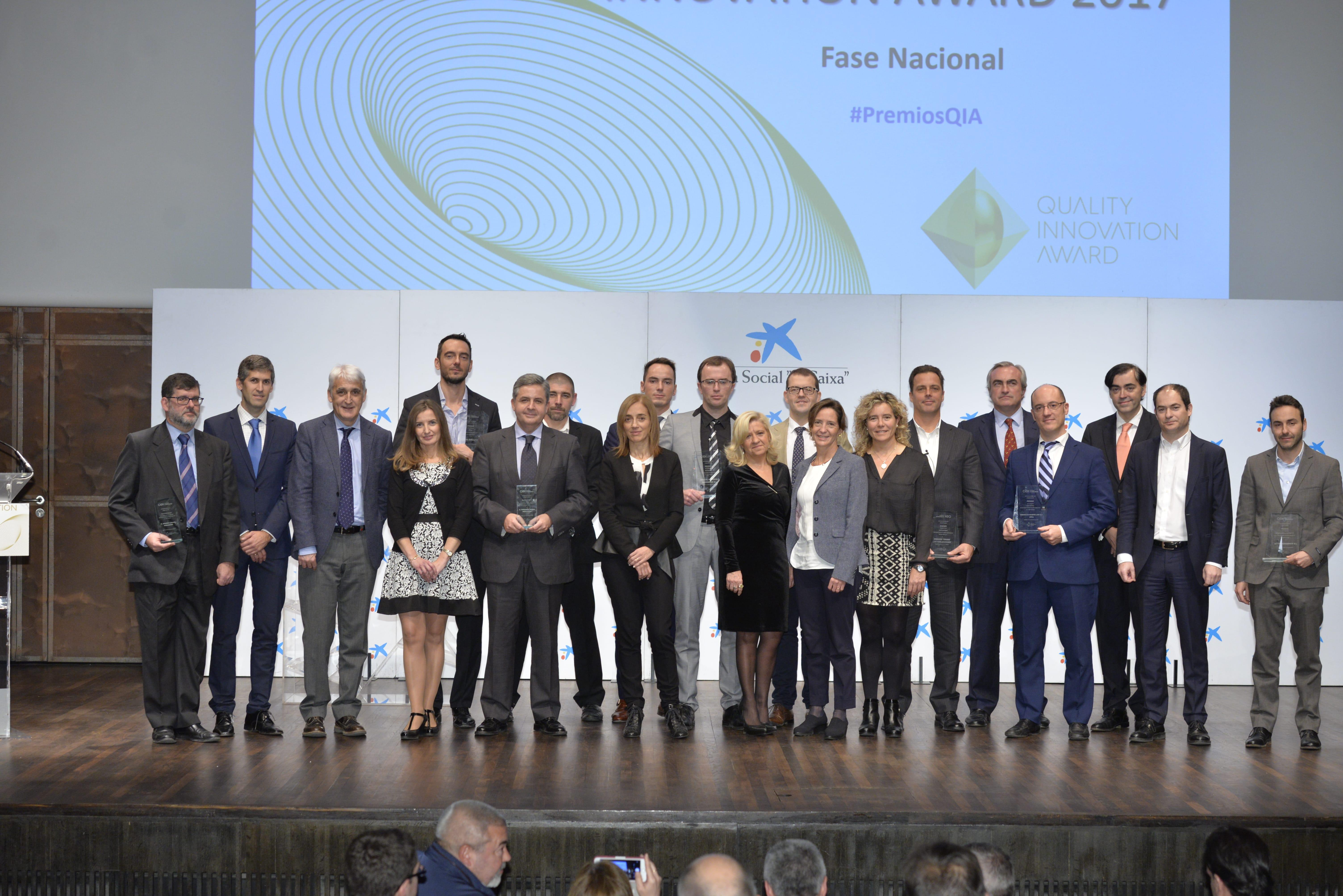 27/11/2017. Entrega Premios QIA. Seis empresas españolas competirán en los premios internacionales Quality Innovation Award, QIA