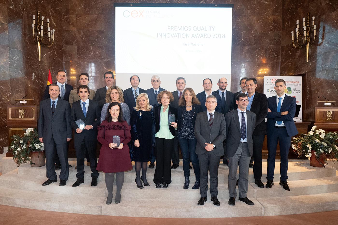 Foto Grupo galardonados Premios QIA