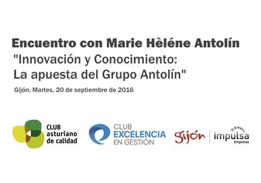 20/09/2016. Conferencia con Marie Hèléne Antolín, Vicepresidenta de Grupo Antolín