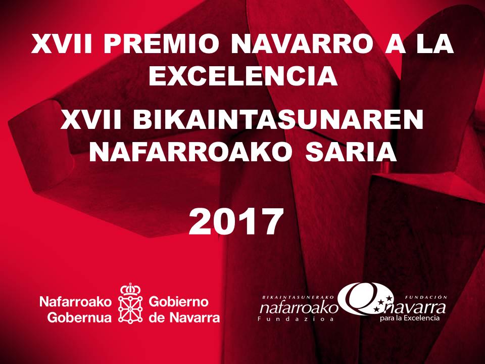 23/11/2017. El 27 de noviembre Gala del Premio Navarro a la Excelencia